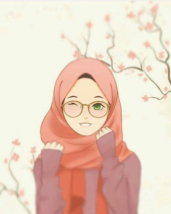 Paling Inspiratif Gambar Animasi Kartun Muslimah Cantik Berkacamata Mede Linmin