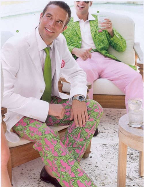 Photo via Seabelle.tumblr.com - preppy pink and green. 1980s style.