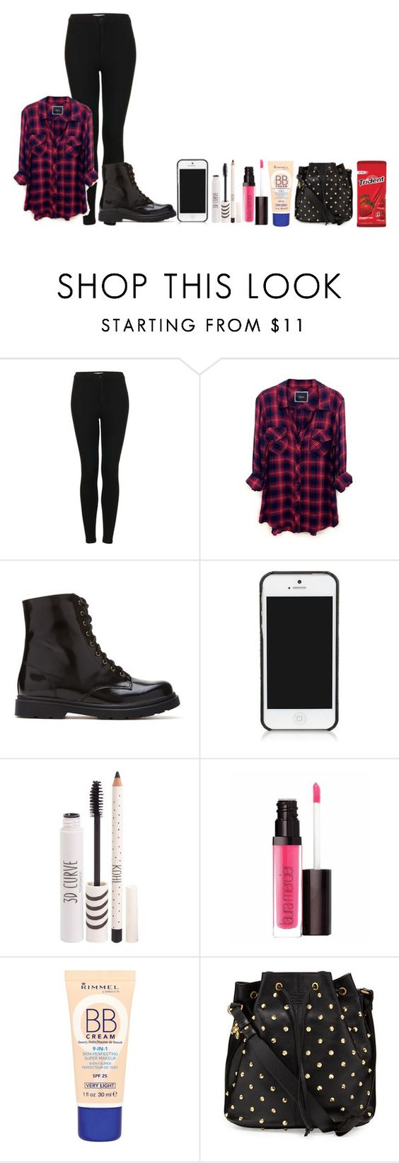"""Night Out"" by xkidinthedarkx ❤ liked on Polyvore featuring Topshop, Rails, Forever 21, Tory Burch, Laura Mercier, Rimmel and Alexander McQueen"