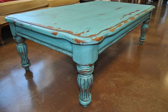 Chalk paint coffee table coffee table pinterest pine for Is chalk paint durable for kitchen table
