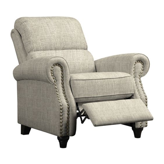 Image Result For Prolounger Barley Tan Linen Push Back Recliner Chair Overstock