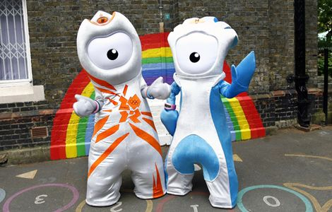 Meet the mascots of the London 2012 Olympic Games! Wenlock and Mandeville are made of steel, and are said to be made from the last girder of the Olympic stadium! Wenlock is the mascot of the Olympic Games, and Mandeville is the mascot of the Paralympics. The mascots are both customizable. You can create your own Wenlock or Mandeville on their official website.