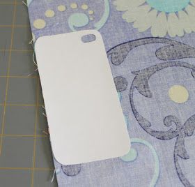 Sew Chatty: {DIY: Fabric iPhone Case}