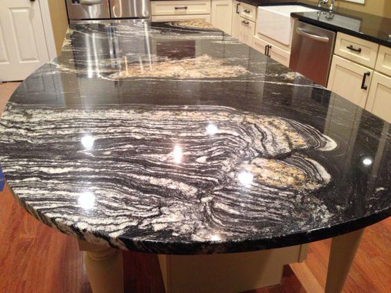 Sensa Granite Orinoco Kitchens Brown Cabinets