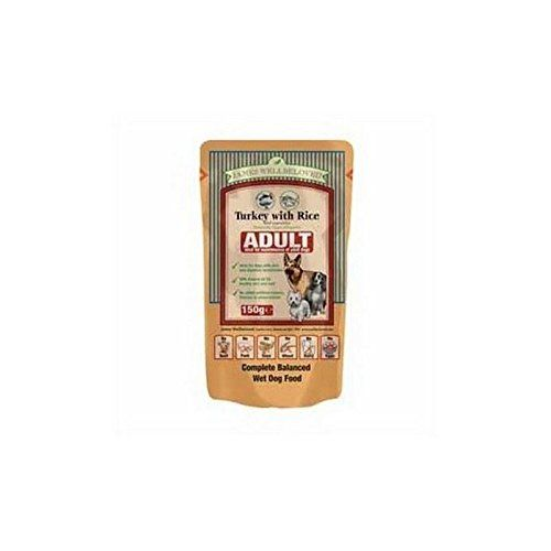 James Wellbeloved Adult Dog Food Pouches With Turkey And Rice M