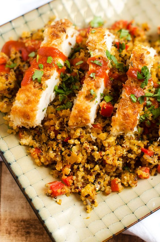 Coconut Chicken with Pineapple Fried Quinoa - Wendy Polisi