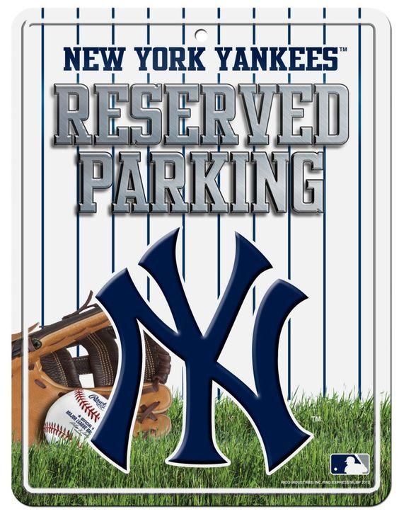 New York Yankees Metal Parking Sign