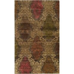 Hand-knotted Tarbes New Zealand Wool Rug (8' x 11')