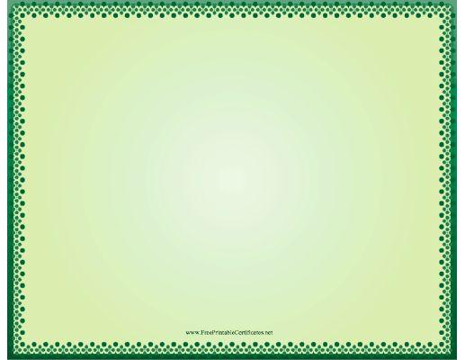 Free Certificate Border Printable