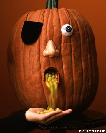 Creepy Pumpkin Candy Holder for Halloween