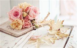 Rose fleurs, feuilles, automne Fonds d'écran Pictures Photos Images