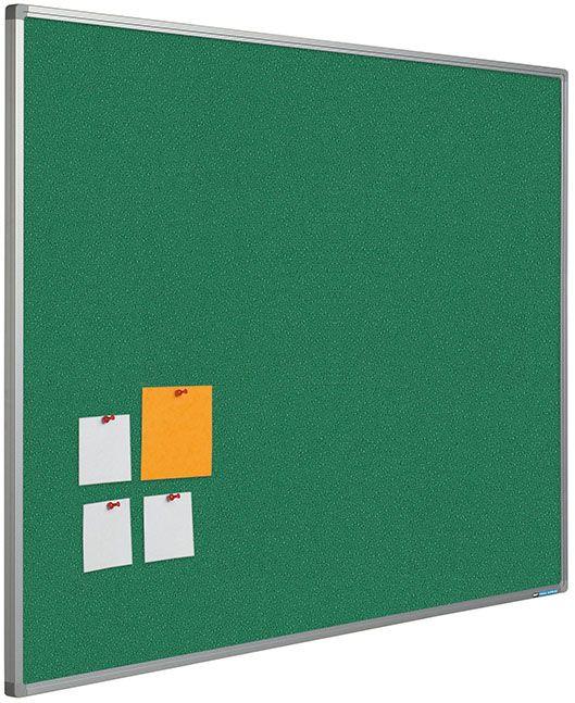 Trendy prikborden met een prikoppervlak van 100% gerecycled hoogwaardig textiel. Kleur en structuur prikoppervlak: Intense range.  Kenmerken: kleurvast, duurzaam, anti-pluis, vuurvast, afwasbaar en milieuvriendelijk.  Voorzien van geanodiseerd Softline profiel met grijze kunststof hoekstukken.