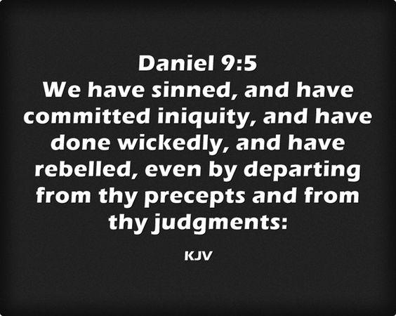 Daniel 9 5 King James Kjv Kjv Bible Prophecy Bible Scriptures