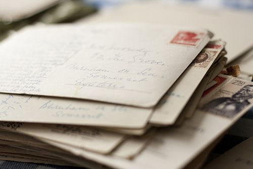 receiving a letter in the mail