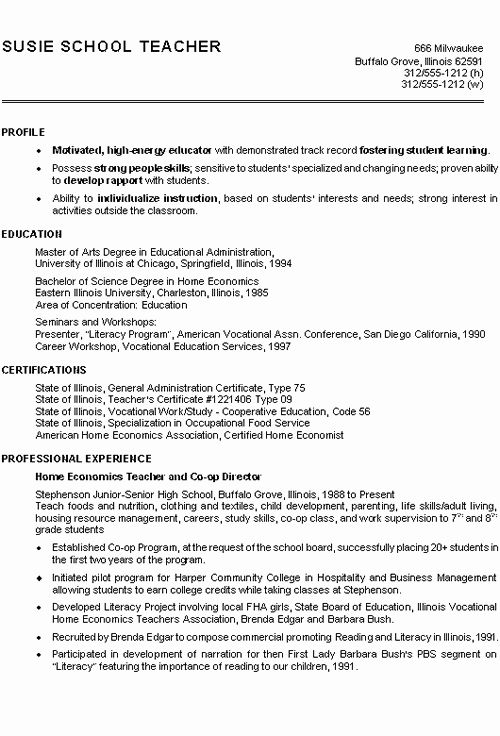 50 Beautiful Teacher Resume Templates Free In 2020 With Images