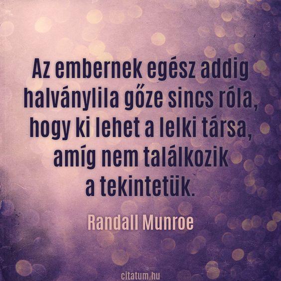 Randall Munroe gondolata a lelki társunkról.