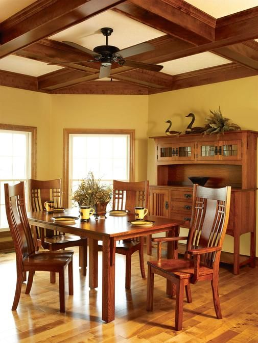 Beautiful ceiling, wall color, table u0026 chairs Liberty Mission Dining Room Collection : Amish ...