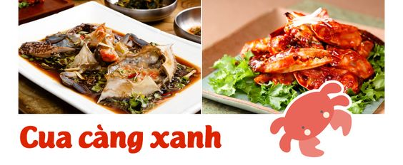 Món cua càng xanh ở Hàn Quốc