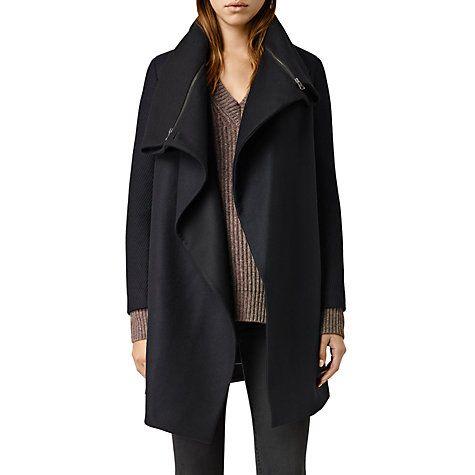 Buy AllSaints Axon Coat, Ink Blue Online at johnlewis.com