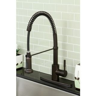 Concord Modern Oil Rubbed Bronze Spiral Pull-down Kitchen Faucet $180