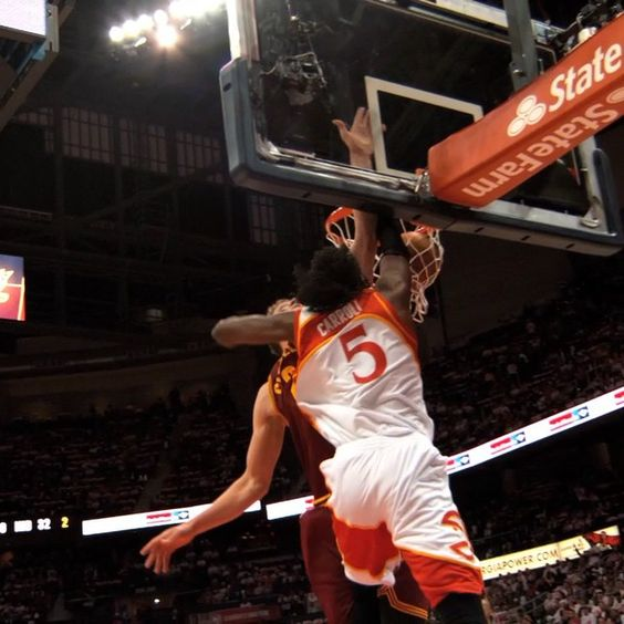 @demarrecarroll1 punches it home in the @atlhawks win on the #phantomcam!