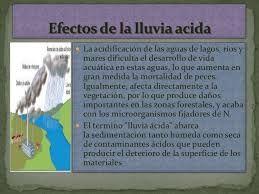 Resultado de imagen para causas y consecuencias de la lluvia acida
