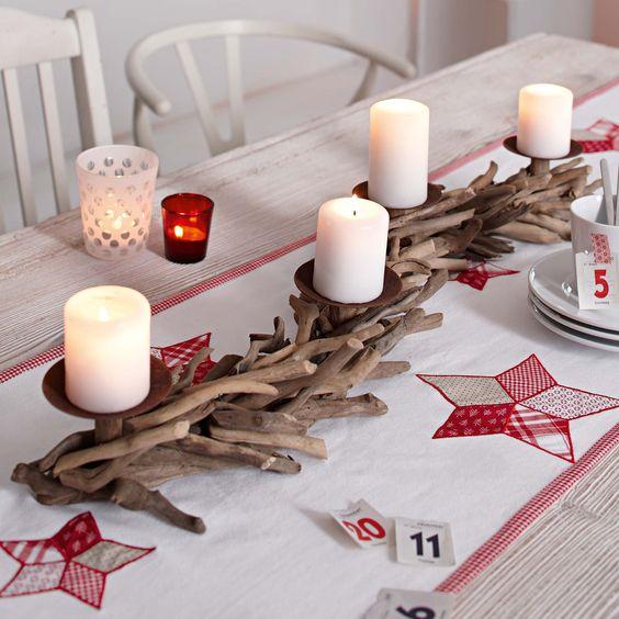 drift wood advent wreath deko treibholz pinterest mittelst cke tafelaufs tze und tische. Black Bedroom Furniture Sets. Home Design Ideas