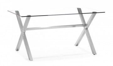Graphite Dining Table Clear Glass