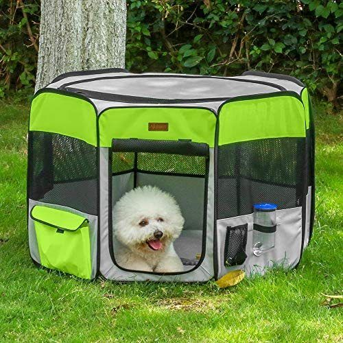 Akinerri Dog Playpen, Foldable Puppy Pet Exercise Kennel with Removable  Mesh Shade Cover, Portable Pet Playpen for Pet's Indoor or Outdoor Training  | Dog playpen, Dog kennel outdoor, Pet playpen