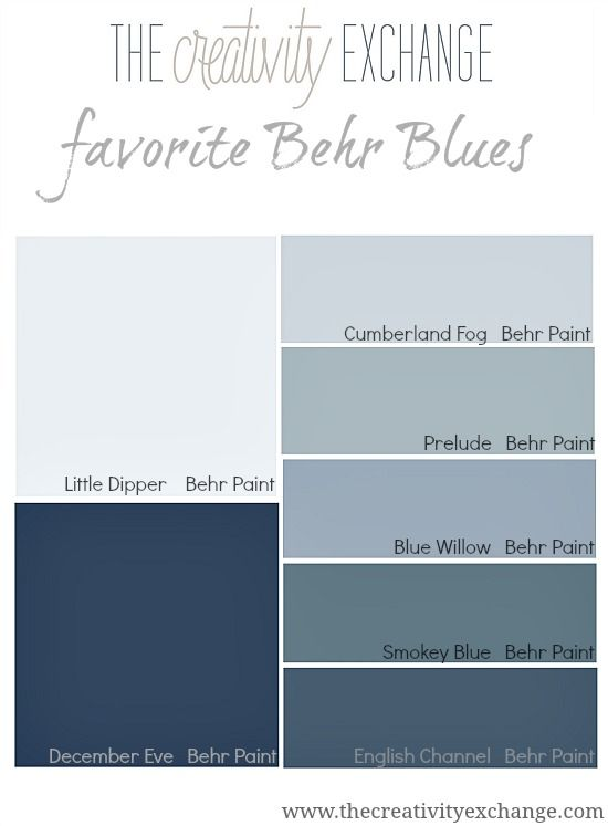 Sharing our favorite Behr paint blues and why Behr paint company