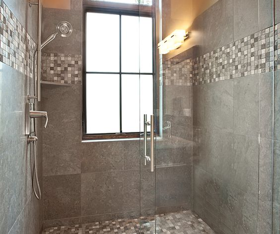 Accent Role Placement With Window And 18x18 Wall Tile Shower Remodel Tub Remodel Tub To Shower Remodel