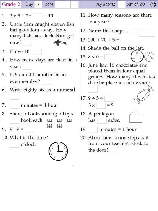 Math, Grade 2 and Mental maths on Pinterest