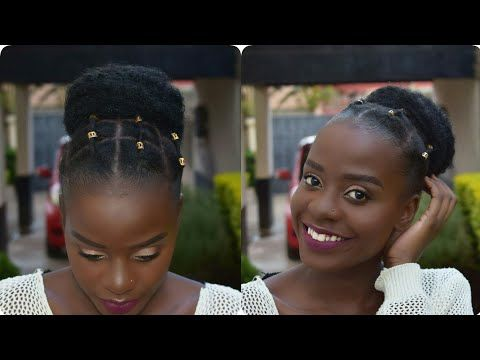 Quick And Easy Protective Styles For Short Natural Hair Type 4a 4b 4c Hair African Thr Quick Natural Hair Styles Short Natural Hair Styles Natural Hair Styles
