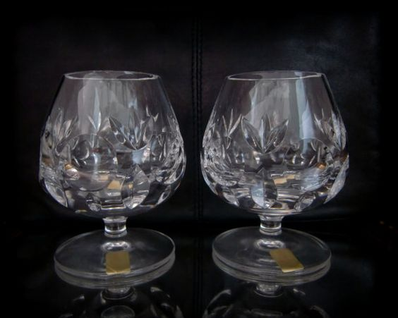 Bamberg crystals and the glass on pinterest - Waterford cognac glasses ...