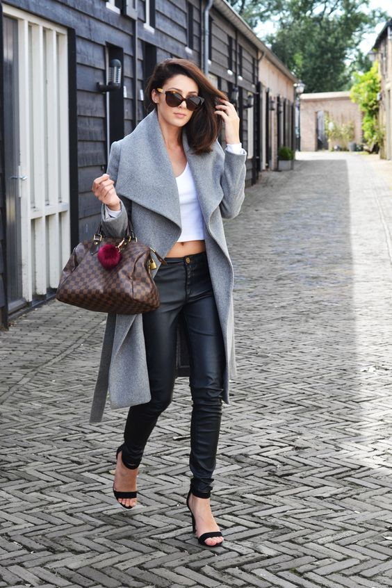 OUTFIT | MY GREY MANGO COAT