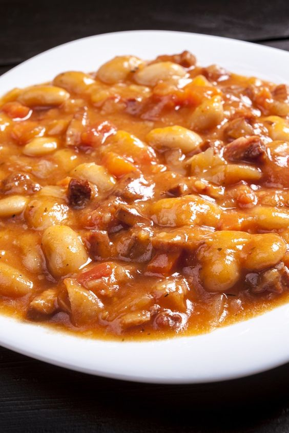 Slow Cooker Texas Style Baked Beans Recipe with Ground Beef, Green ...