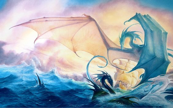 Fantasy Dragons | Sea dragons wallpapers and images - download wallpapers, pictures ... #SeaDragons