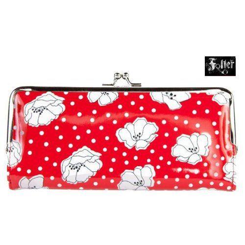 Amazon.com: Black and Red Polka Dot Retro Poppy Wallet: Clothing