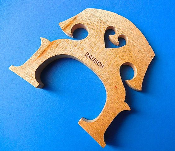 BIG Bridge Fridge Magnet up cycled real cello by TheAltoClef