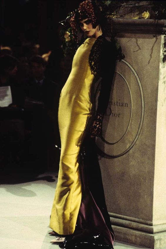A look from the Christian Dior spring 1997 couture collection.