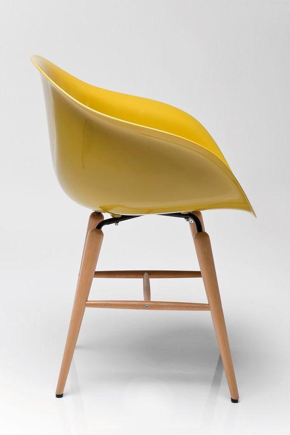 Židle s opěrkou ruky Forum Wood Mustard - 1