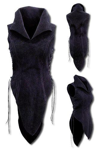 Elf, black - Armour for Women - Leather Armour - Armour