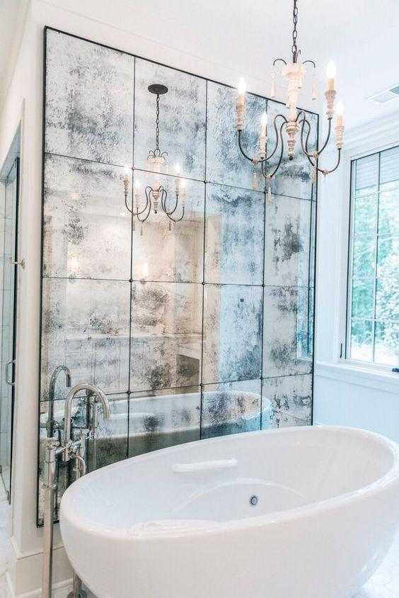 Artistic Tiles Straight Edge Antiqued Mirror Hand Silvered Mirror Wall Bathroom Mirror Tiles Bathroom Mirror Tiles