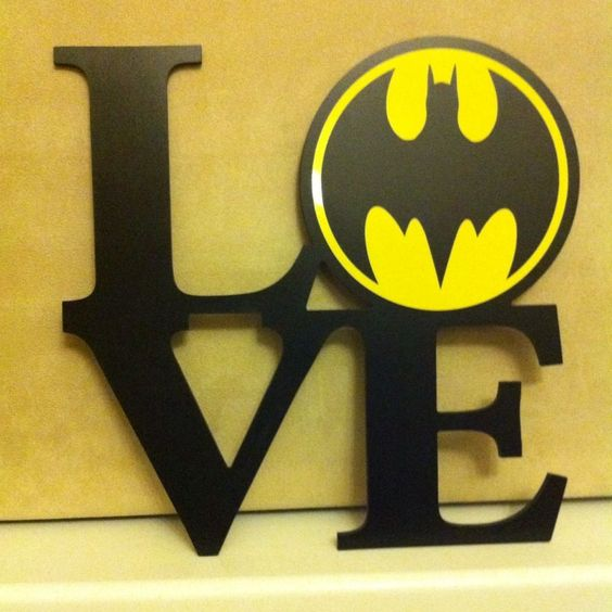 Batman Bathroom Sign: Shabby Chic Love Batman Bat Man Sign Christmas Birthday