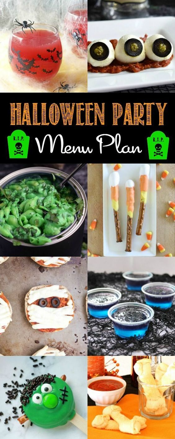 Throw the best bash on the block with these easy Halloween Party Menu Plan ideas! via /breadboozebacon/