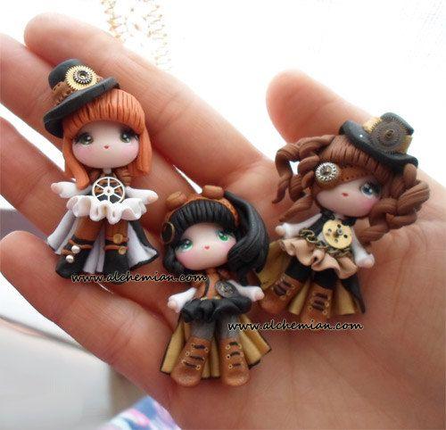 1 Steampunk lolita doll ooak necklace made in por AlchemianShop, €38.00