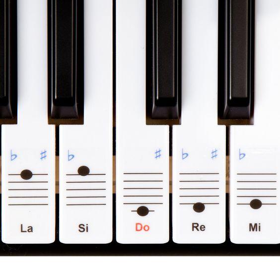 Autocollants Keysies amovibles en plastique transparent pour touches de piano et clavier - avec guide pratique d'installation.: Amazon.fr: Instruments de musique