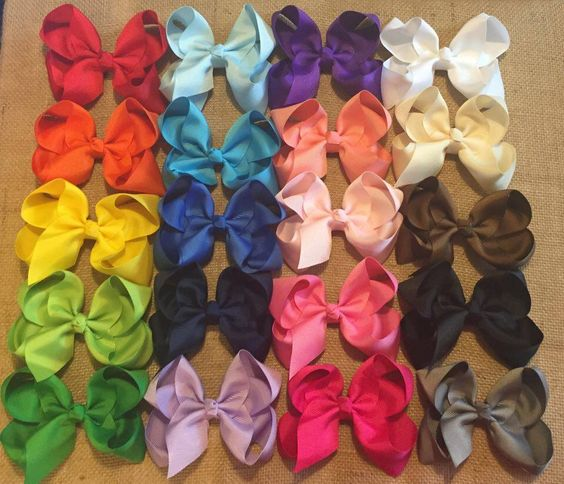 """Basic Hair Bow, Boutique Hair Bows, Solid Color Hair Bow, Simple Hair Bows, Boutique Hair Bow, 4"""" Hairbow, Solid Color Bow, Boutique Hairbow by BBgiftsandmore on Etsy"""