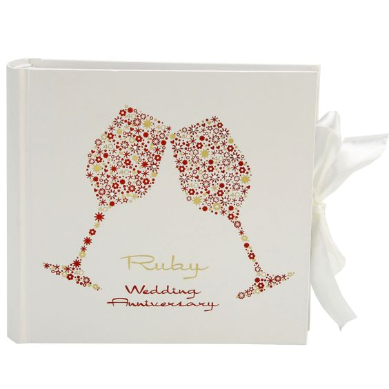 Ruby Wedding Gift For Parents : anniversary gifts anniversary gifts album gifts anniversaries wedding ...