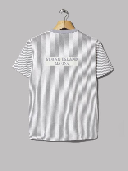 Stone Island Marina Pigment Print T Shirt Lavanda Stone Island Print T Shirt T Shirt